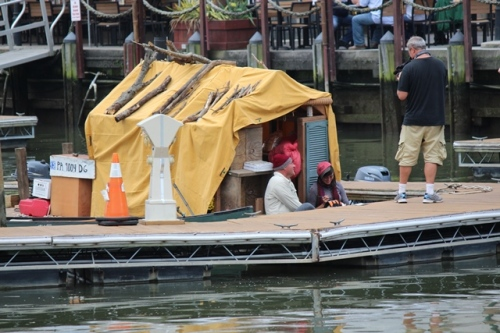 """One of the interesting """"boats"""" you find along the waterway. The """"Shanty Boat"""" is heading to FL!"""