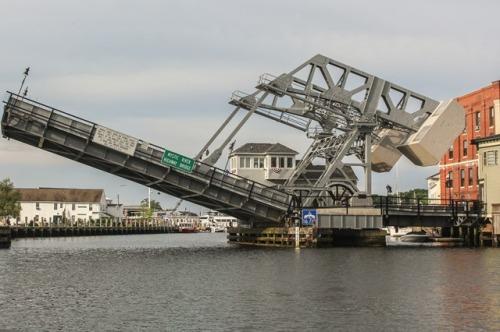 The Mystic CT Highway Bridge - Very cool old bridge