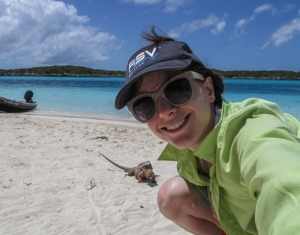 Sara and the Iguanas of AllansCay